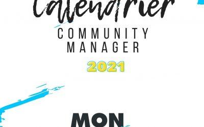 Le calendrier 2021 du community manager